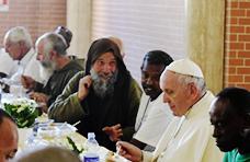 Papa Francesco visita la missione di Biagio Conte a Palermo