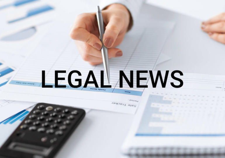 Legal news - 17 Maggio