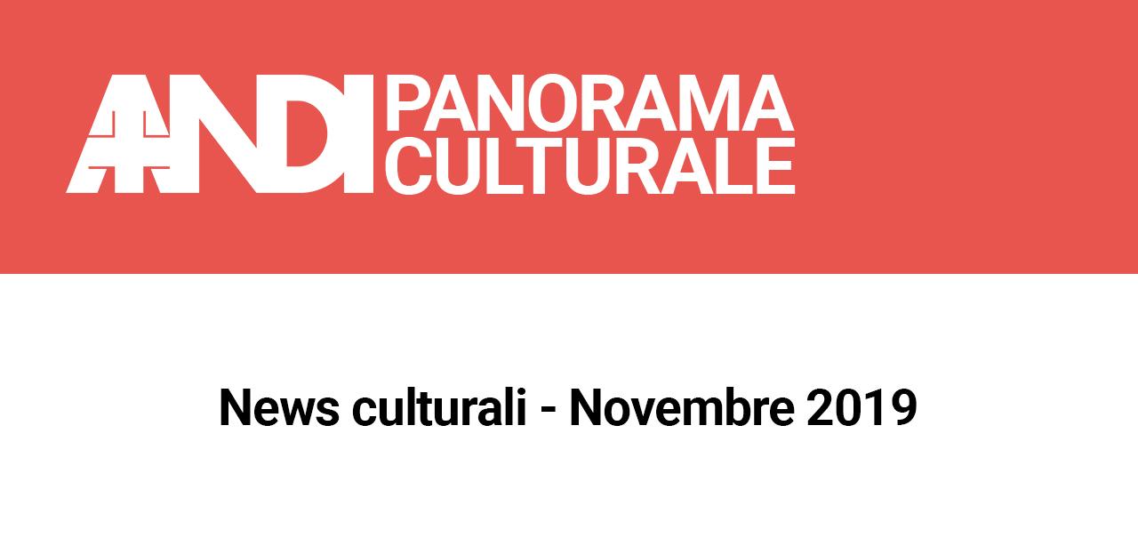 News culturali – Novembre 2019