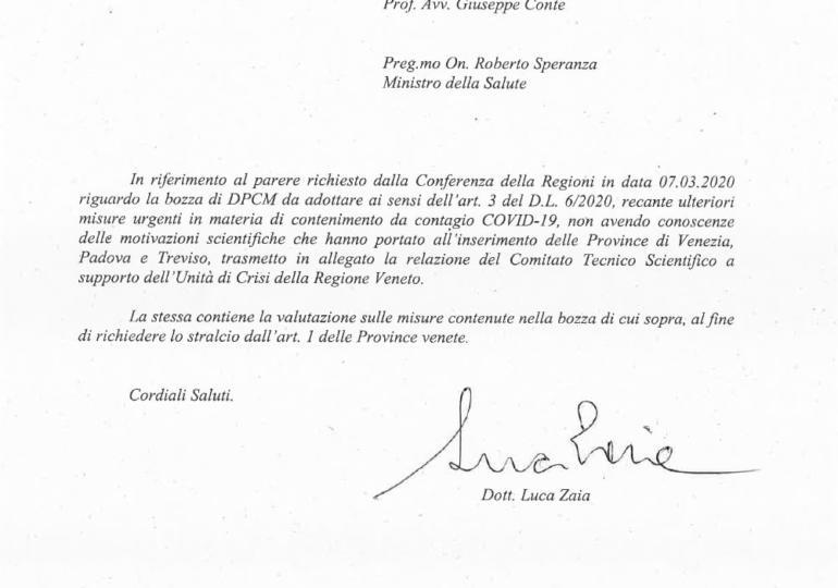 Relazione Comitato Scientifico Regione Veneto