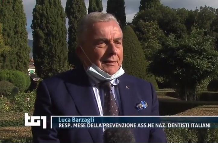 Sul Tg1 Medicina Rai intervista a Luca Barzagli. Responsabile ANDI del Mese della Prevenzione Dentale