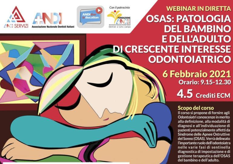 OSAS: patologia del bambino e dell'adulto di crescente interesse odontoiatrico